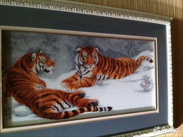 "Схема вышивки ""Амурские тигры"""