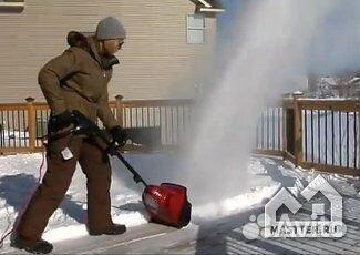 электрический уборщик снега своими руками