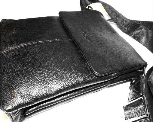 00770a53a1cf Мужская кожаная сумка -Armani- black планшет iPad купить в Москве на ...