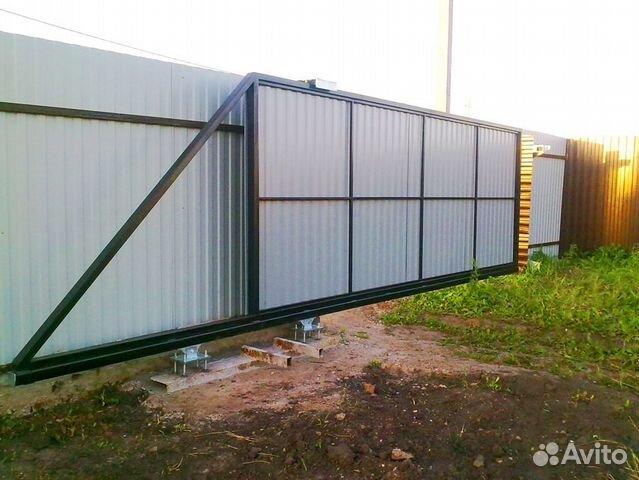 откатные металлические ворота 4 метра цена