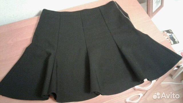 Черная юбка из клиньев