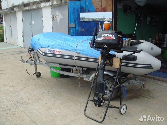 лодка с мотором и прицепом купить в спб бу