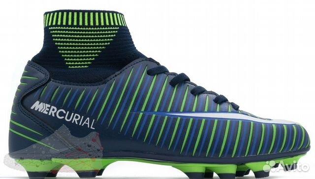 38994dcc Nike Mercurial синие с зеленым | Festima.Ru - Мониторинг объявлений