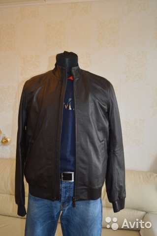 1abd8e36db7e Armani Jeans новая кожаная куртка оригинал с бирка   Festima.Ru ...