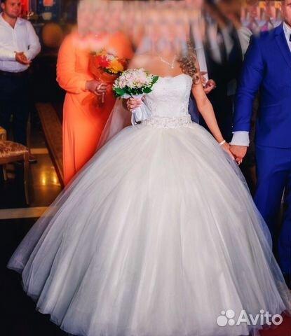 70a4dd04d Свадебное платье(фата длинная в пол в подарок) купить в Брянской ...