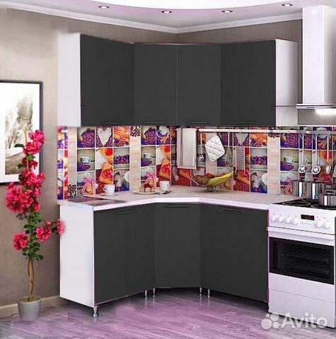 Кухонный гарнитур черное дерево отдельные кухонные части мебели
