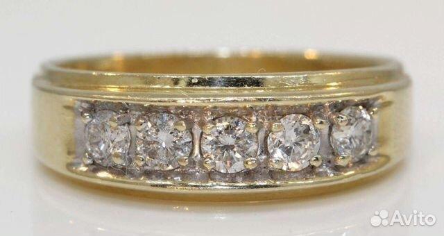 Золотое кольцо 585 с бриллиантами 1 карат.классика   Festima.Ru ... 5c20a77a9c6