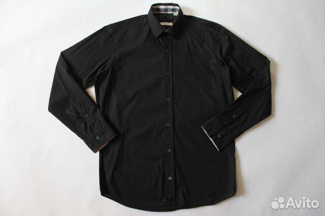 370365e4d729 Черная мужская рубашка Burberry Brit купить в Санкт-Петербурге на ...