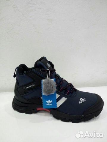 758053978 Adidas зимние с мехом кроссовки синие | Festima.Ru - Мониторинг ...