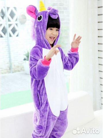 Кигуруми-пижама единорог фиолетовый e0a5f42fa90b1