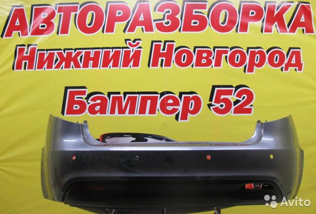89524408730 Kia RIO 2011) Бампер задний (се)