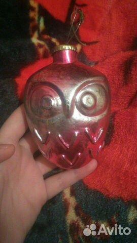 Советская стеклянная новогодняя игрушка из СССР 89194678263 купить 1