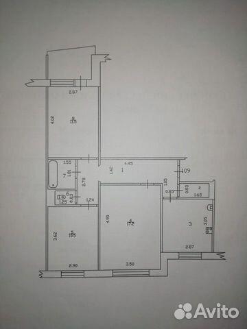 3-к квартира, 63.9 м², 1/9 эт. 89132503022 купить 1
