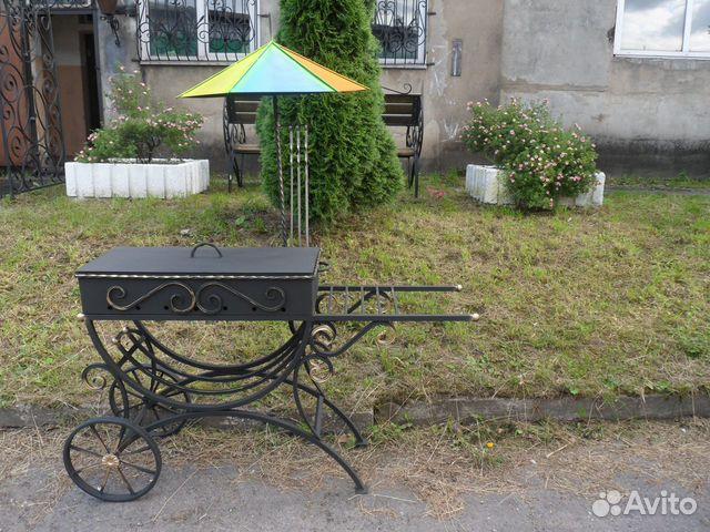 Мангал на колесах с зонтиком  89203488069 купить 2