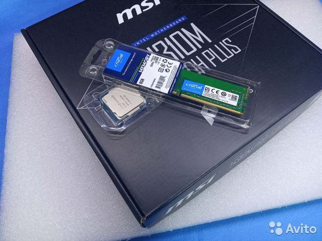 Комплект MSI Socket 1151-v2(8GB,G4900)  купить 1