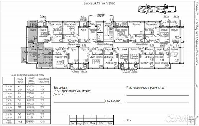 3-к квартира, 59.2 м², 12/17 эт.  89132475399 купить 5
