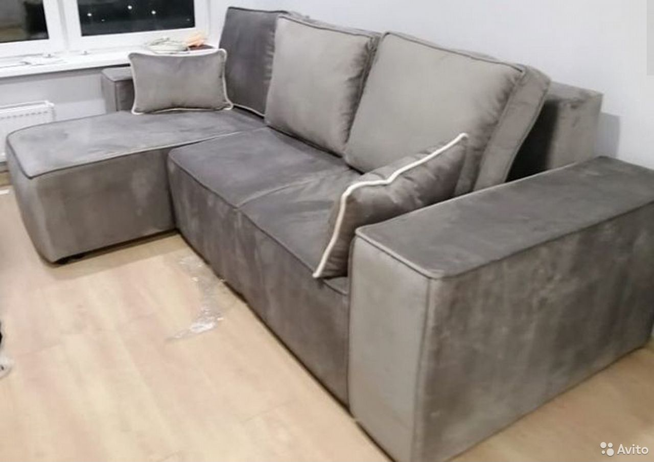 Диван белла с оттоманкой серый  89634548144 купить 1