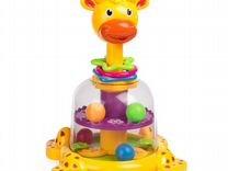 Новая развивающая игрушка Жираф с вертушкой