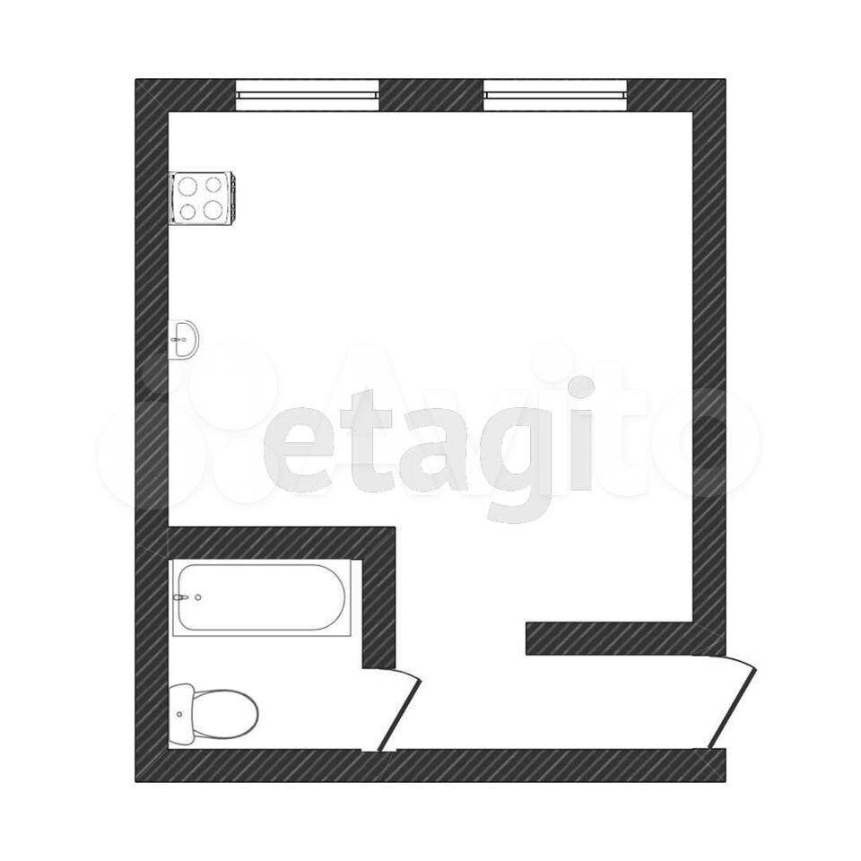 Квартира-студия, 20 м², 1/9 эт.  89033043968 купить 9