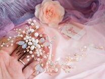 Веточка в прическу на свадьбу или выпускной