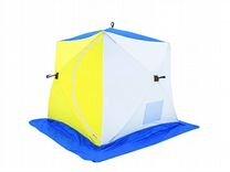 Палатка зимняя для рыбалки стэк Куб 3 трехслойная