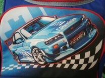 Портфель синий с рисунком
