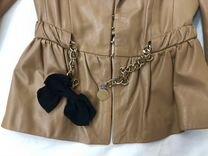 Пиджак кожаный Elisabetta Franchi