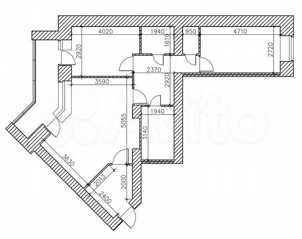 новостройка 4-комнатная проспект Труда 61
